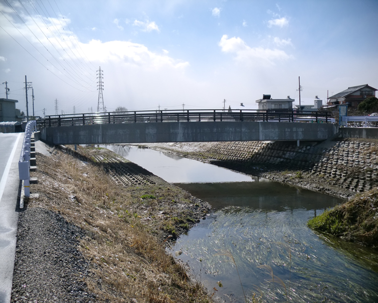 県単河川局部改良長護寺川(橋梁上部工)工事に伴う測量業務